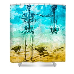 Fickle Finger Of Fate Shower Curtain by Bob Orsillo