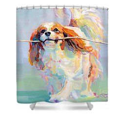 Fiddlesticks Shower Curtain by Kimberly Santini