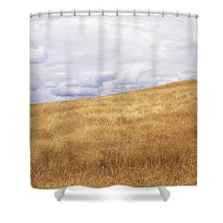 Field And Sky Near Rock Creek, South Shower Curtain by Bert Klassen
