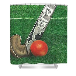 Field Hockey Shower Curtain
