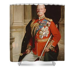 Field Marshal Lord Roberts Of Kandahar Shower Curtain by Frank Markham Skipworth