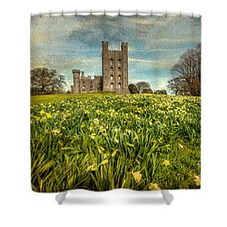 Field Of Daffodils Shower Curtain by Adrian Evans