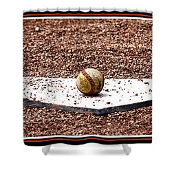 Field Of Dreams The Ball Shower Curtain by Susanne Van Hulst