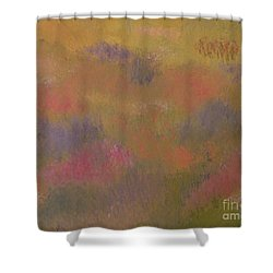Field Of Flowers Abstract Shower Curtain