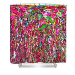 Field Of Flowers At Sunset Shower Curtain