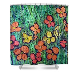 Field Of Flowers Shower Curtain