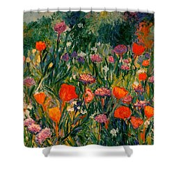Field Of Flowers Shower Curtain by Kendall Kessler