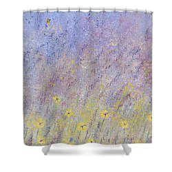 Field Of Flowers Shower Curtain by Tim Townsend