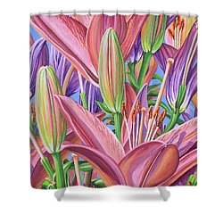 Field Of Lilies Shower Curtain