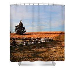 Field Of Shadows Shower Curtain