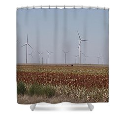Shower Curtain featuring the photograph Field Of Wind by Fortunate Findings Shirley Dickerson