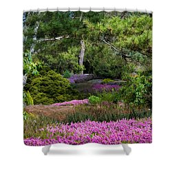 Shower Curtain featuring the photograph Fields Of Heather by Jordan Blackstone