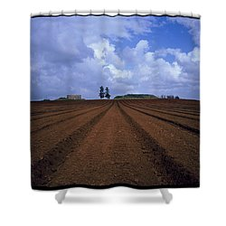 Fields Of Hod Hasharon Shower Curtain by Dubi Roman