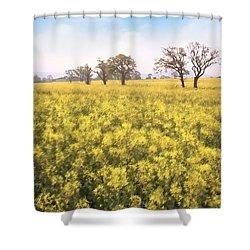 Fields Of Yellow Shower Curtain