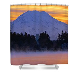 Fiery Dawn Shower Curtain