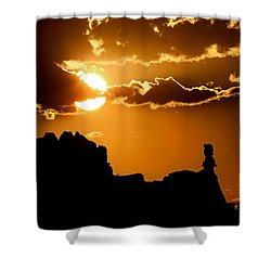 Fiery Desert Sky Shower Curtain