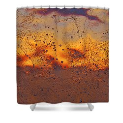 Shower Curtain featuring the photograph Fiery Horizon by Sami Tiainen