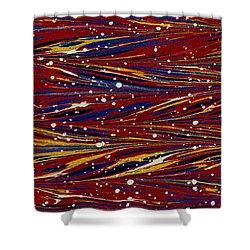 Fiery Lava Flow Abstract Shower Curtain by Karon Melillo DeVega