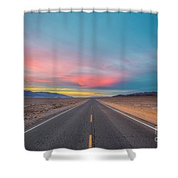 Fiery Road Though The Valley Of Death Shower Curtain