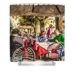 Fiesole Al Fresco Shower Curtain by Liz Leyden