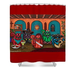Fiesta Cats II Shower Curtain