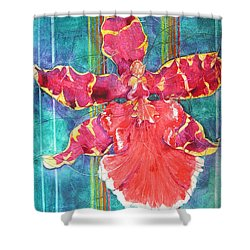 Fiesta Orchid Shower Curtain