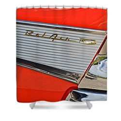 Fifty Seven Chevy Bel Air Shower Curtain by Frozen in Time Fine Art Photography