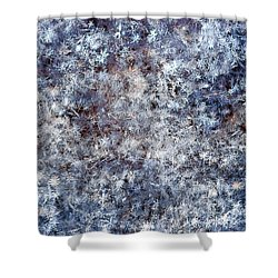Fifty Shades Of White Shower Curtain by Alexander Senin