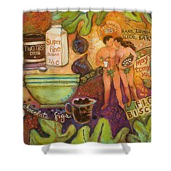 Fig Biscotti Recipe Shower Curtain by Jen Norton