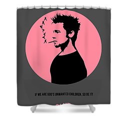Fight Club Poster 1 Shower Curtain by Naxart Studio