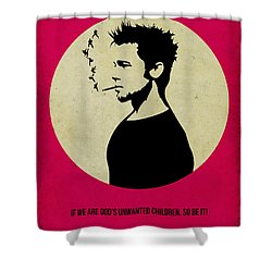 Fight Club Poster Shower Curtain by Naxart Studio