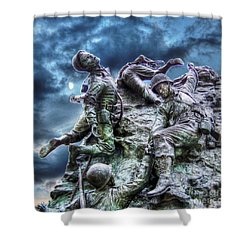 Fight On Shower Curtain by Dan Stone
