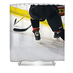 Fighting For The Puck Shower Curtain by Shoal Hollingsworth