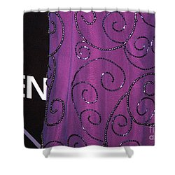 Fighting Sequins Horizontal Shower Curtain