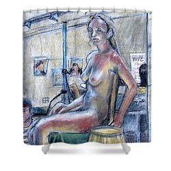 Figure Drawing- Primary Colors  Shower Curtain