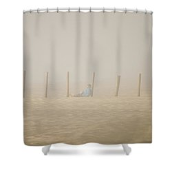 Figure In The Fog Shower Curtain
