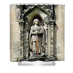 Figure Of St Wystan Above Porch Door Shower Curtain by Rod Johnson