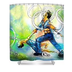Figure Skating 01 Shower Curtain by Miki De Goodaboom