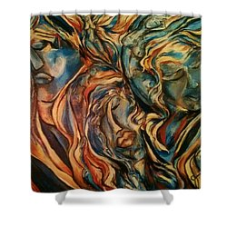 Figures Of  Beauty Shower Curtain by Dawn Fisher