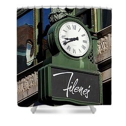 Filene's Basement Clock Shower Curtain