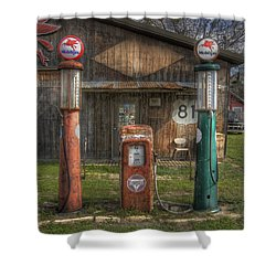 Fill 'er Up Shower Curtain by David and Carol Kelly