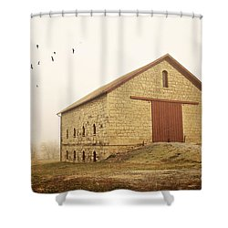 Filley Stone Barn 1 Shower Curtain