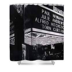 Film Homage Alfred Hitchcock Torn Curtain 1966 Orpheum Theater St. Paul Minnesota 1966 Shower Curtain by David Lee Guss