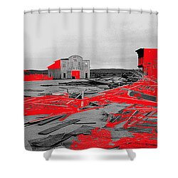 Film Homage High Plain Drifter 1973 Monte Walsh Set Windstorm Mescal Arizona 1969-2012 Shower Curtain by David Lee Guss