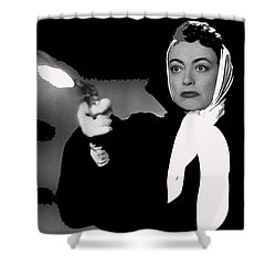 Film Noir Joan Crawford Jack Palance Sudden Fear 1952 Rko Publicity Photo Color Added 2012 Shower Curtain