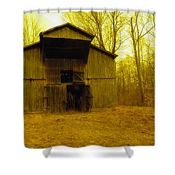 Shower Curtain featuring the photograph Filtered Barn by Nick Kirby
