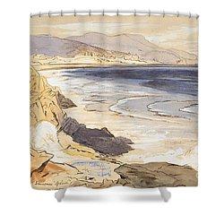 Finale Shower Curtain by Edward Lear