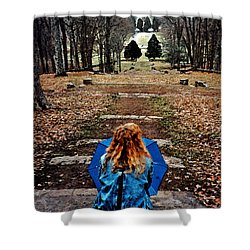 Find Me Shower Curtain by Lydia Holly