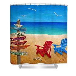 Finding Paradise Shower Curtain by Pamela Allegretto