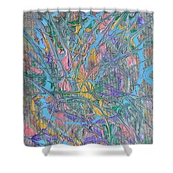 Finding Easter Shower Curtain by Donna Blackhall